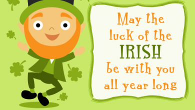 St Patricks Day Greetings 1 390x220 - St Patrick's Day Greetings