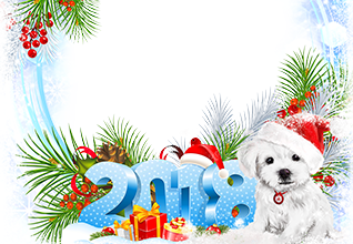Calendar2018 With a puppy photo frame 318x220 - Calendar2018 With a puppy photo frame