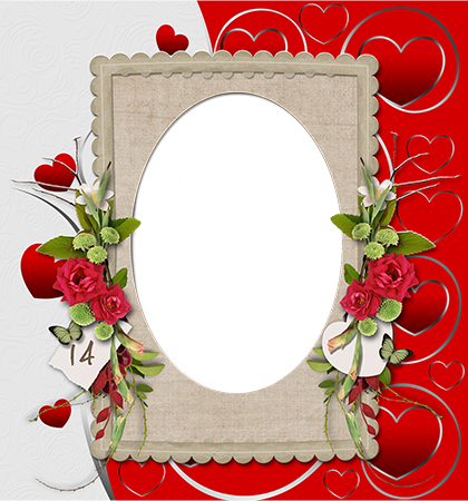 February14isasaint Valentines Day photo frame - February14isasaint Valentines Day photo frame