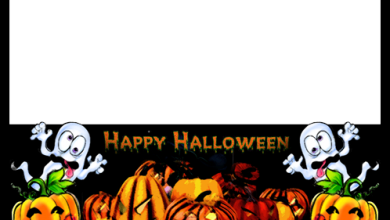 Horrible Pumpkins Wish You a Happy Halloween photo frame 390x220 - Horrible Pumpkins Wish You a Happy Halloween photo frame